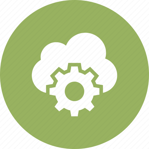 cloud, connection, database, digital, setting icon