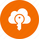 cloud, internet, key, lock, network icon