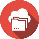 cloud, folder, shared, storage icon