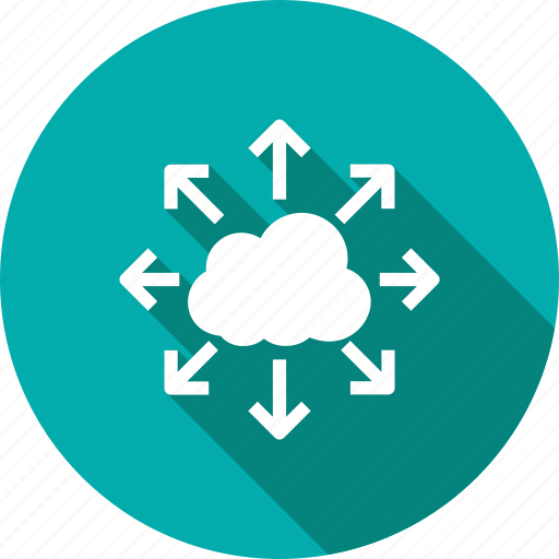 cloud, collaboration, network, people icon