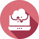 cloud, data, database, download, guardar, laptop, save, storage icon