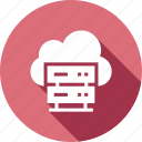 cloud, dedicated, hosting, server, servers, storage icon