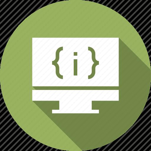 code, coding, display, monitor, pc, progamming icon