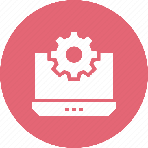 computer, interface, screen, setting icon