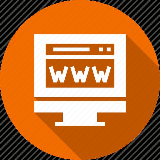 computer, internet, monitor, online, www icon