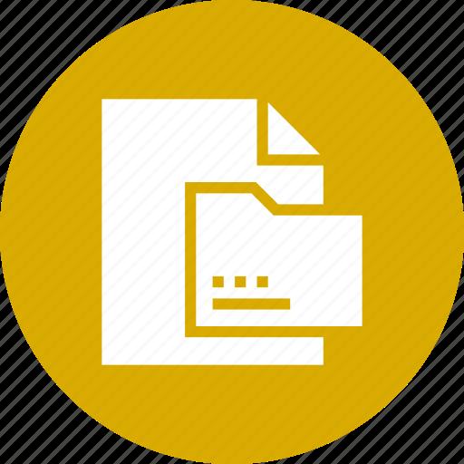 document, file, folder, sheet icon