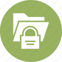 folder, lock, options, preferences, protection, secure, settings icon
