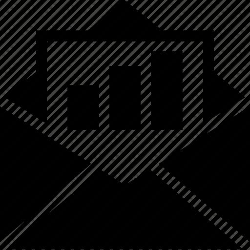 envelop, graph, line icon