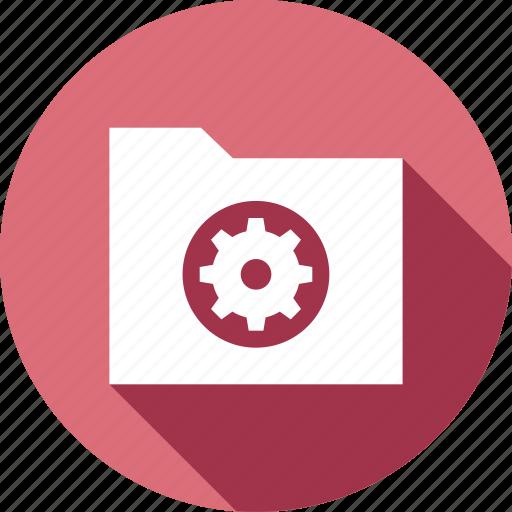 folder, gear, options, preferences icon