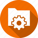 folder, gear, options, preferences, settings icon
