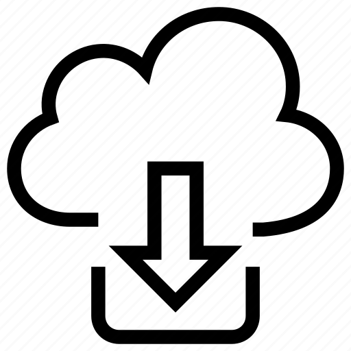 cloud download, cloud network, cloud sharing, computing, download icon icon