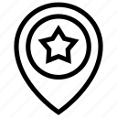 favorite, geo, location, targeting icon, star