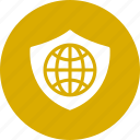 globe, global, with, security