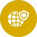 globe, ico, secure, security, shield, technology, world