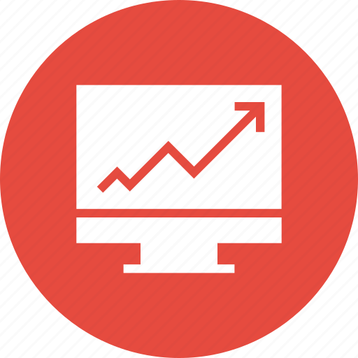 graph, growth, monitor, presentation icon