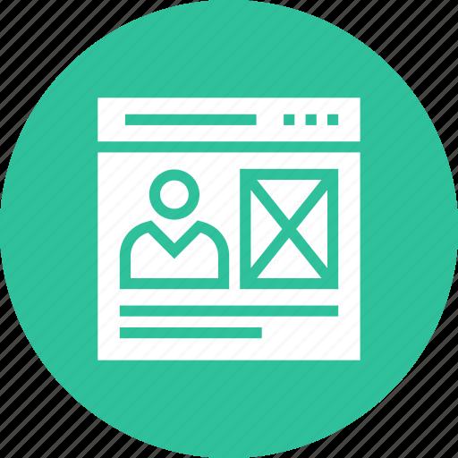 page, user, web, webpage, website icon