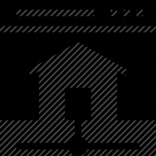 home, homepage, house, share, web icon