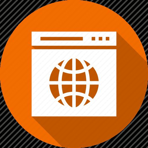 global, globe, internet, page, web icon