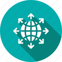 globe, internet, network, share, sharing, social, web icon