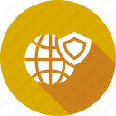 globe, ico, secure, security, shield, technology, world icon