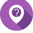 google, locate, location, mark, question icon