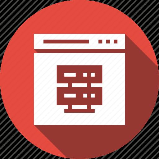 host, hosting, server, web icon