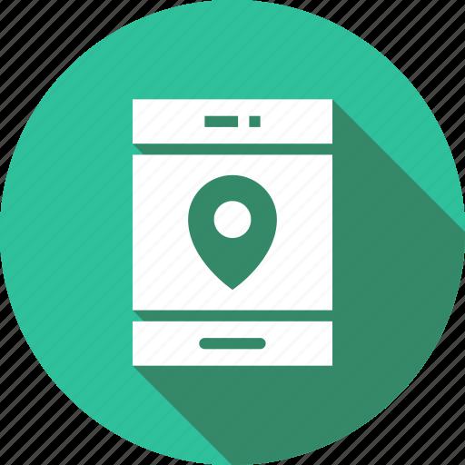 location, locator, marketing, mobile icon