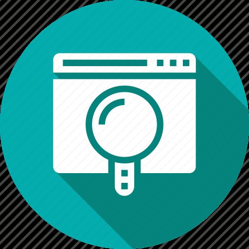 glass, magnify, search, web icon
