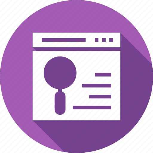 content, magnifying, page, search, web, wireframe icon