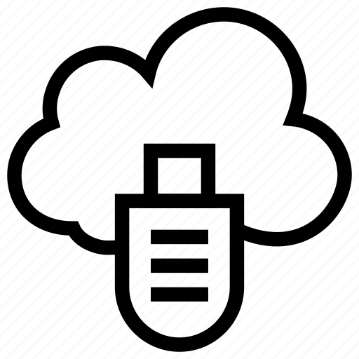 cloud computing, computing, icloud, usb, usb cable icon icon