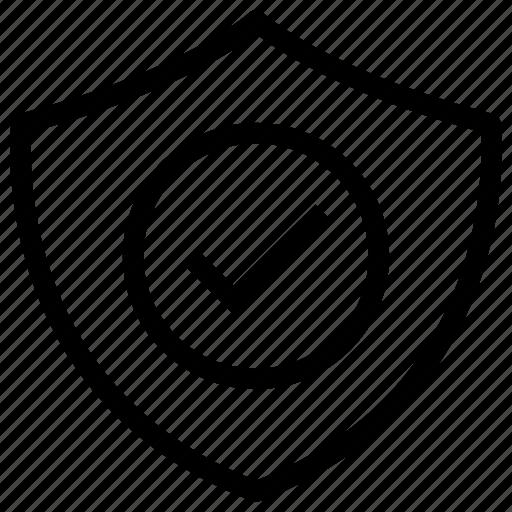 check, prevent, safe, security, shield icon icon