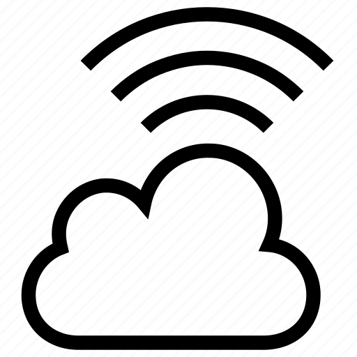cloud computing, cloud network, wifi cloud, wireless icon icon