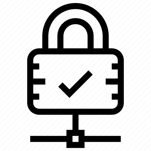 approve, check, lock, secure, security, yes icon icon