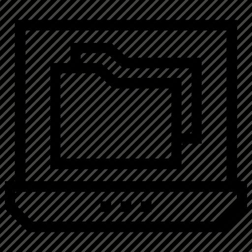 Computer, data, file, folder, laptop icon icon - Download on Iconfinder