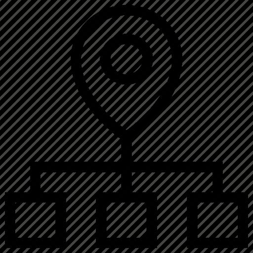 ip, location, network, pin icon icon