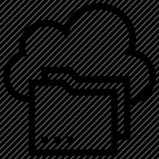 Cloud, cloud storage, folder, shared folder icon icon - Download on Iconfinder