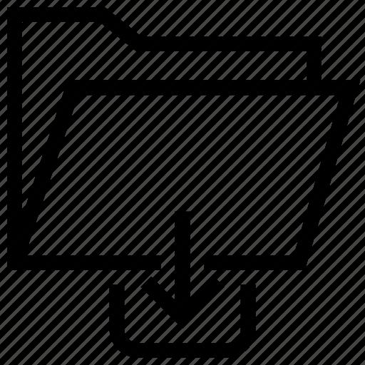 Data, document, download, file, folder, storage, upload icon icon - Download on Iconfinder
