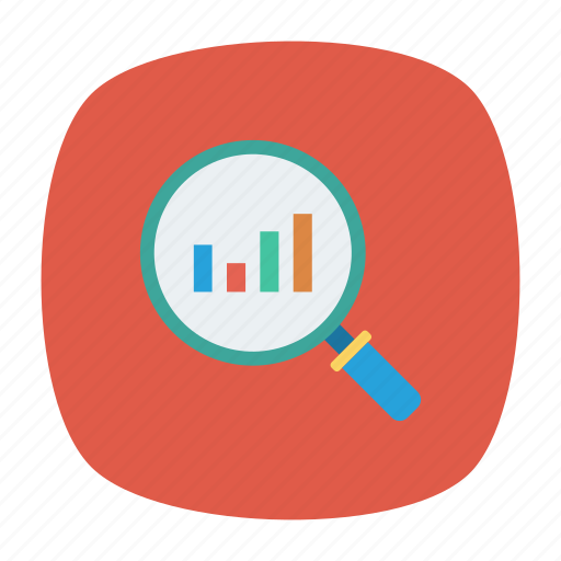 analysis, graph, search, statistic icon
