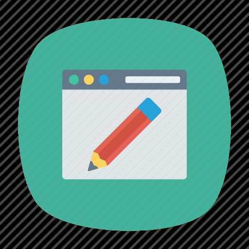 browser, edit, internet, write icon