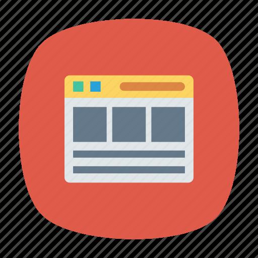 browser, internet, webpage, window icon