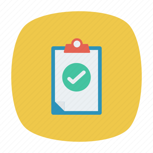 clipboard, document, done, tick icon