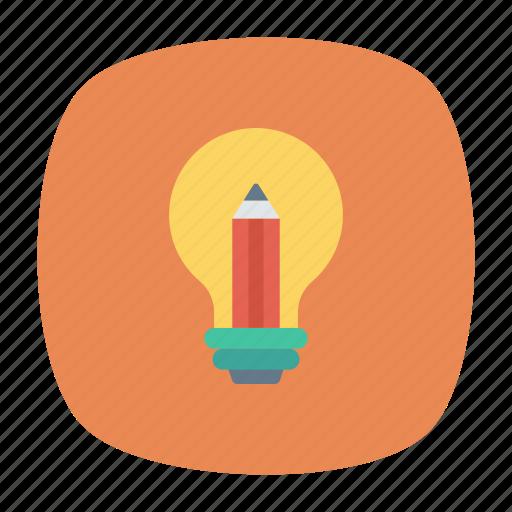 bulb, creativity, idea, knowledge icon