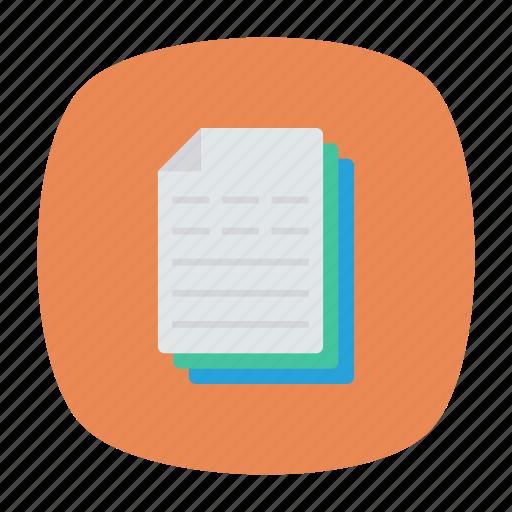 document, file, invoice, paper icon