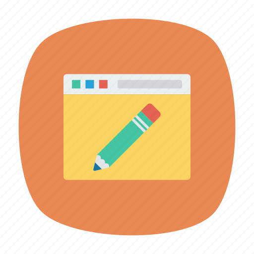 browser, edit, pen, write icon