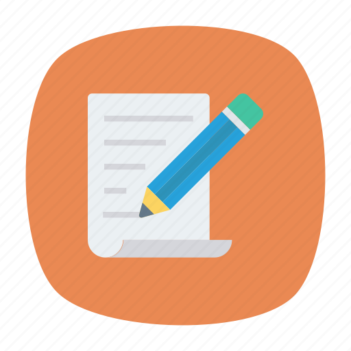 document, edit, pen, write icon