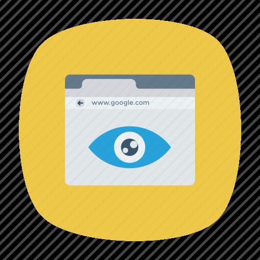 browser, eye, view, webpage icon