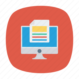 display, document, files, screen icon