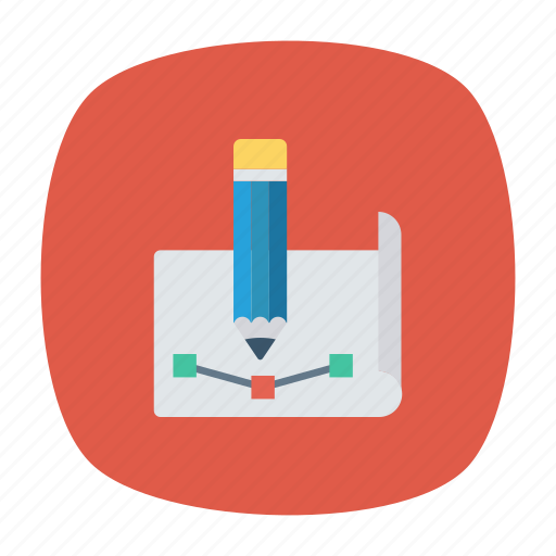 design, illustration, page, pen icon