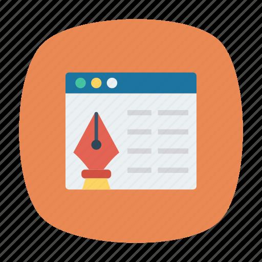 Browser, internet, online, write icon - Download on Iconfinder