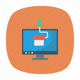 display, drawing, paint, screen icon